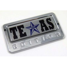 texas special edition adhesive chrome emblem