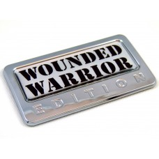 wounded warrior edition chrome auto car badge