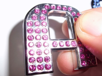 Crystal Letters PINK 1.2""