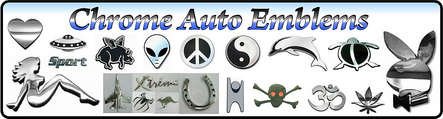Car Chrome Emblem Decals | Numbers, Letters & More